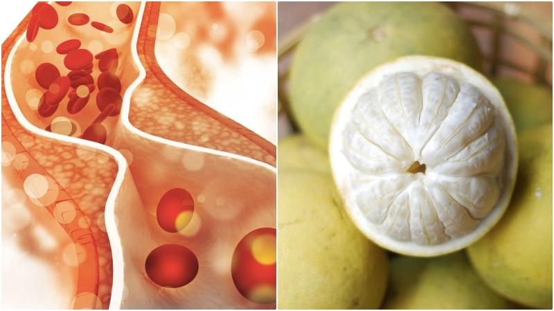 Bưởi giúp giảm cholesterol trong máu
