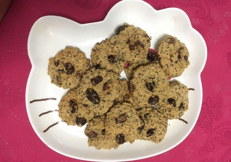 Bánh quy yến mạch hạt chia