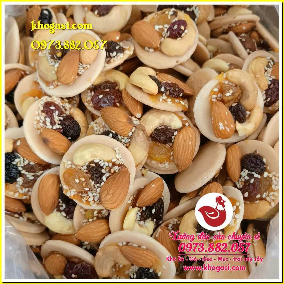 Bánh đồng tiền mix hạt dinh dưỡng