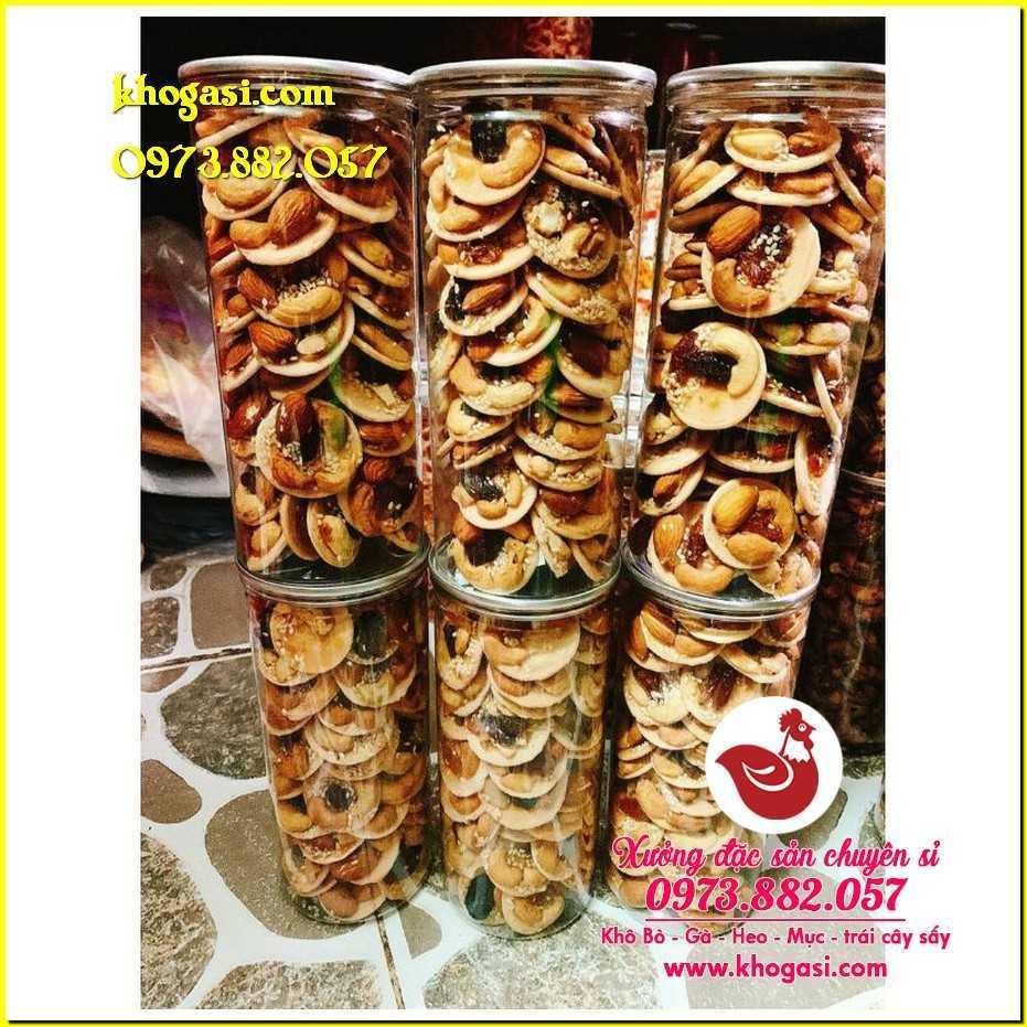 Bánh đồng tiền mix hạt 【lon 430g】