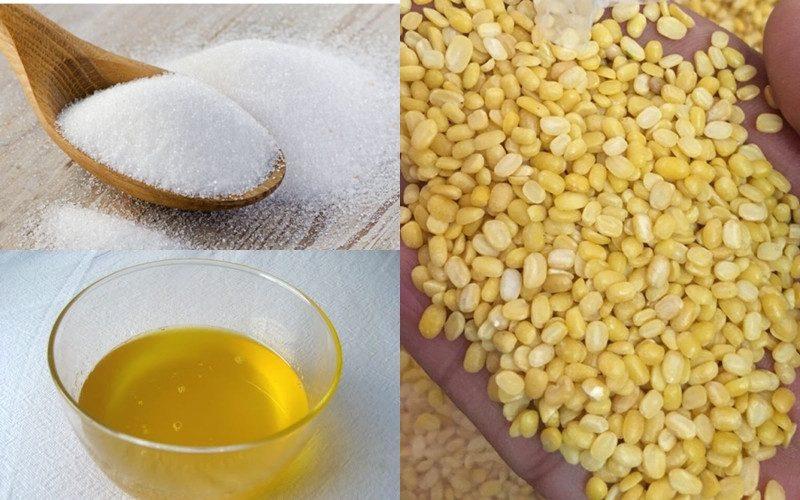 Nguyên liệu làm bánh trung thu đậu xanh